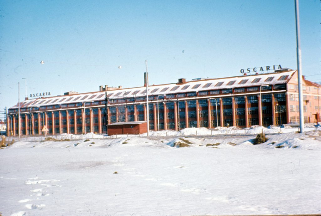 Bata factory in Oscaria in 1969