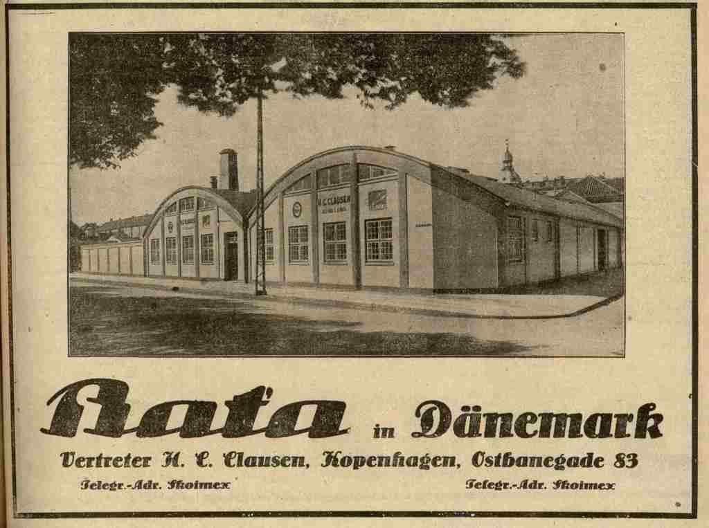 Prodejce Baťovy obuvi, Kodaň 1927