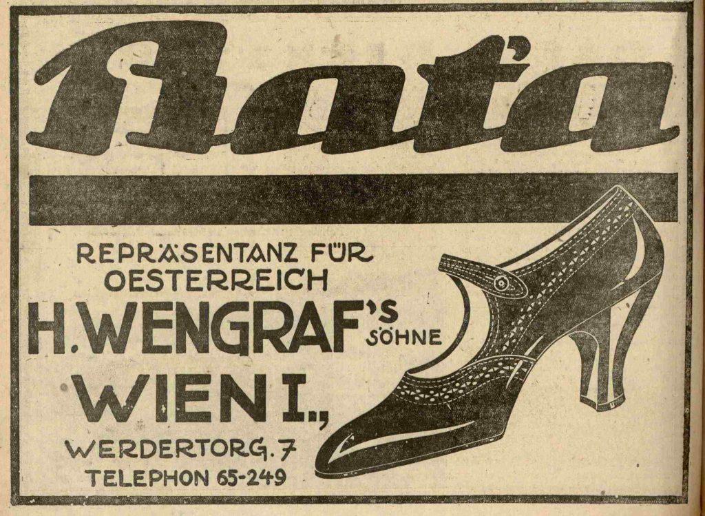 Prodejce Baťovy obuvi, Vídeň 1927