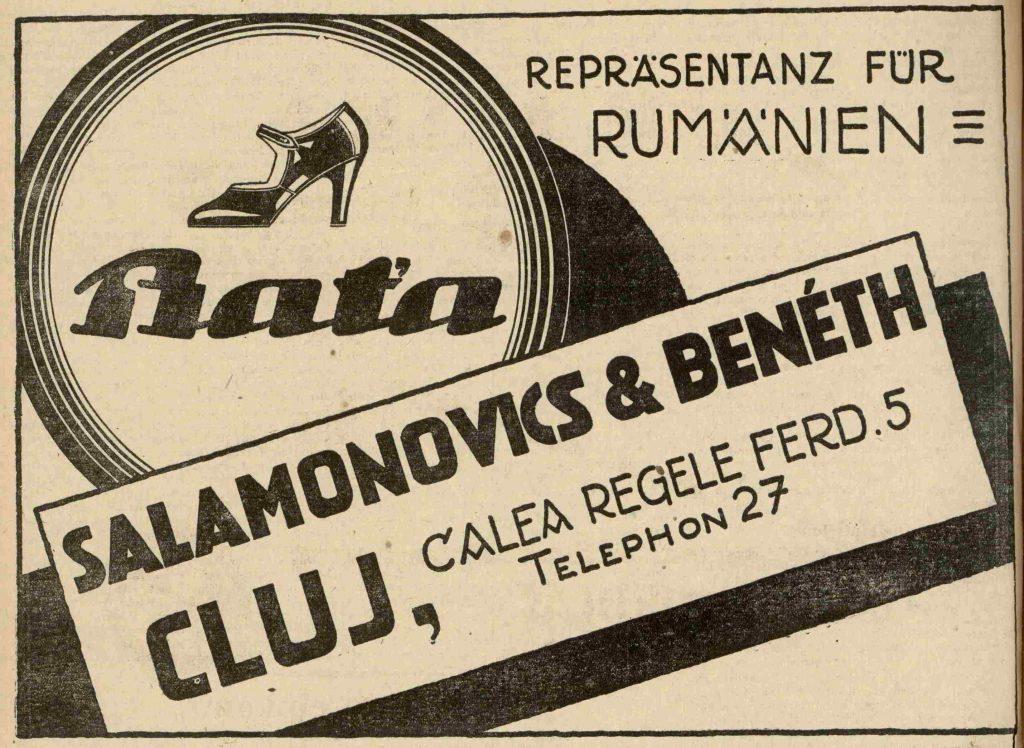 Prodejce Baťovy obuvi, Kluž 1927