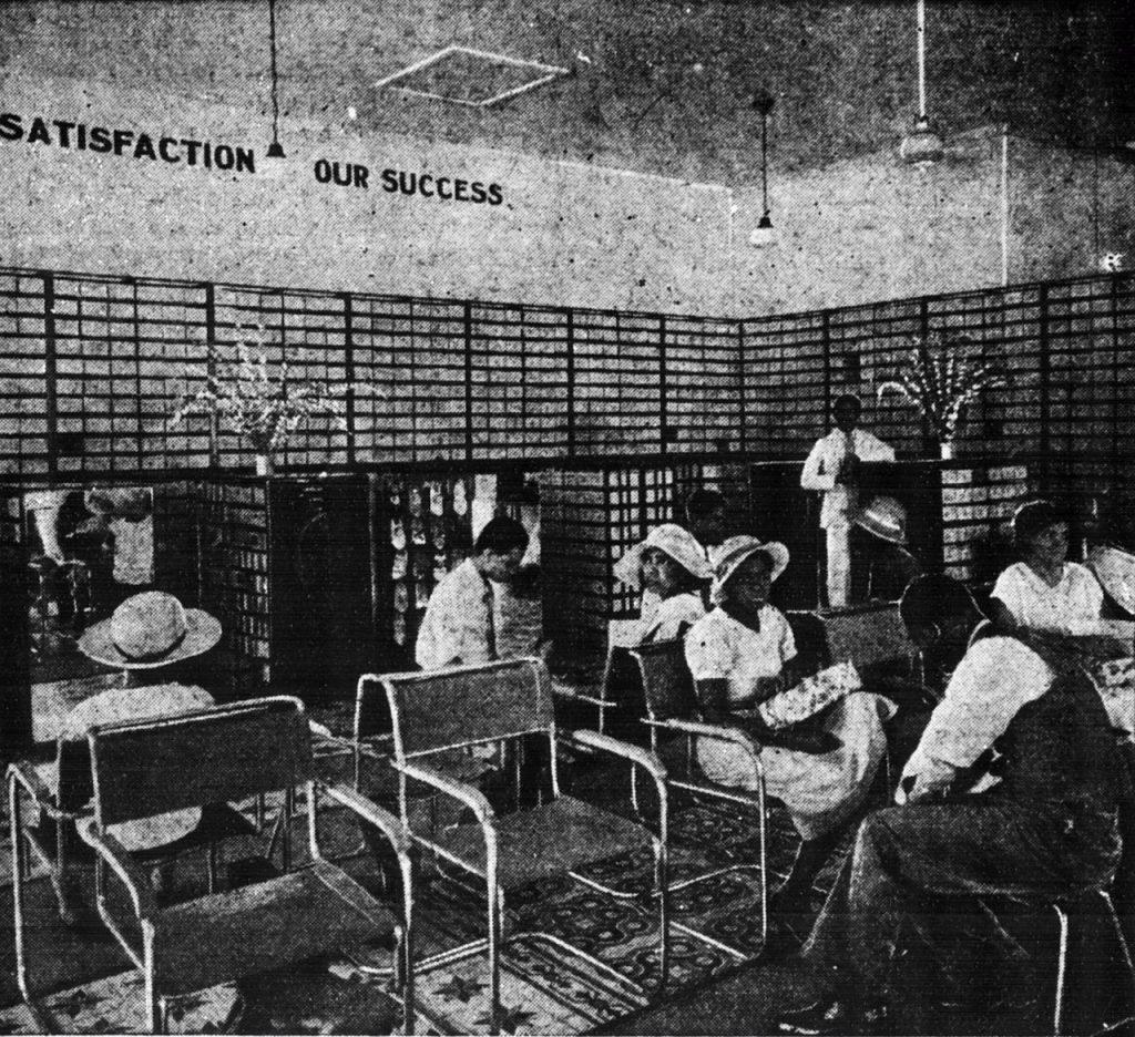 Prodejna Kingston, říjen 1935