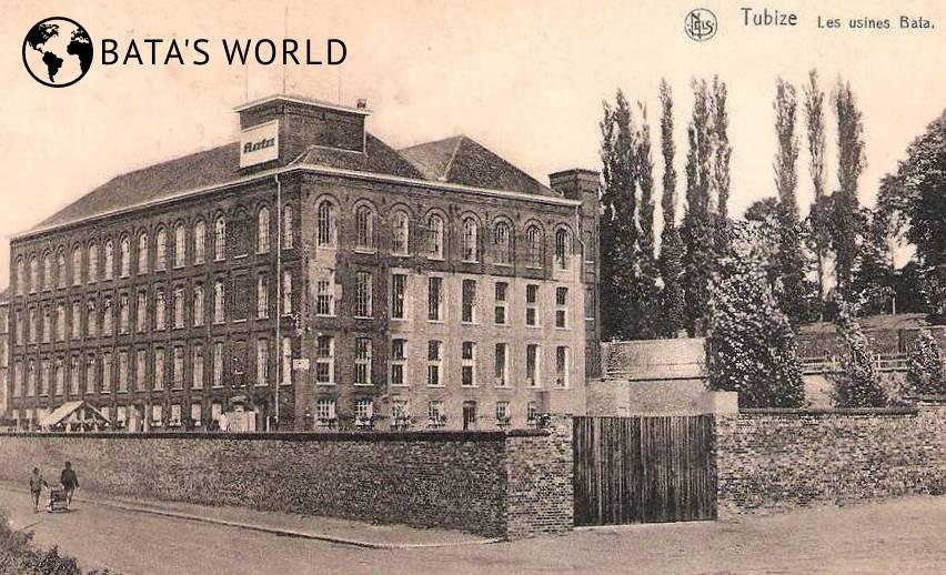 Baťova továrna, Tubize, (kolem roku 1950)